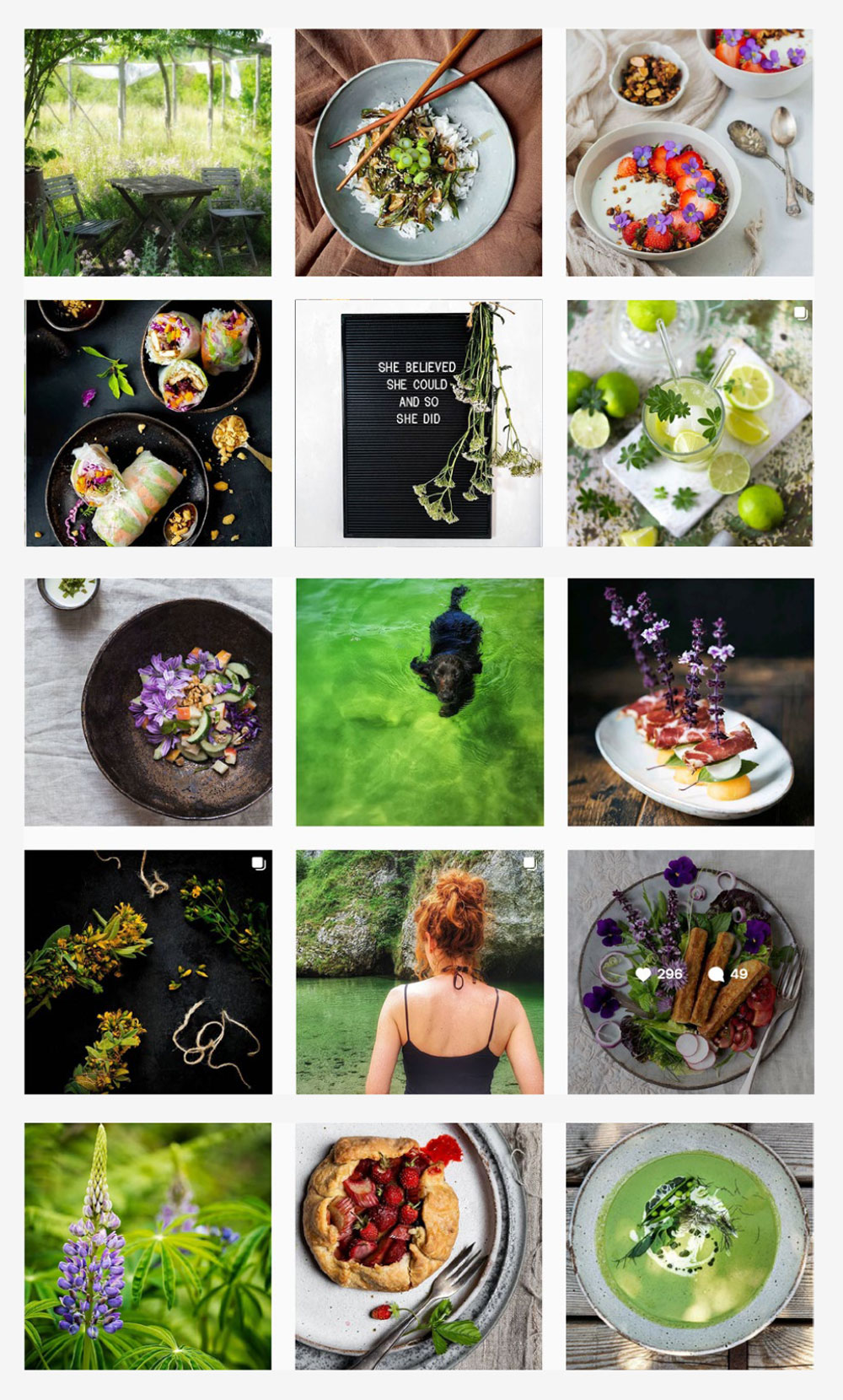 Bird and Spoon Instagram grid